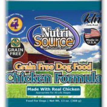 DCCKU7Q Nutri Source Grain Free Chicken Can Dog Food 12-13Z