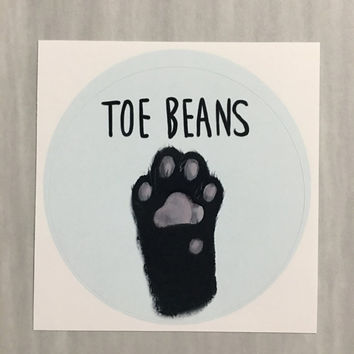 Aesthetic sticker art, Cat toe beans notebook sticker laptop stickers (2.5 inch Round Stickers) it's art you can take with you