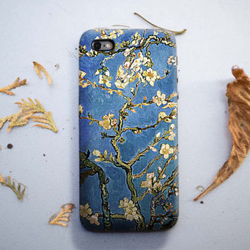 Almond Tree Flowers - Van Gogh iPhone Case 6, 6S, 6 Plus, 4S, 5S. Mobile HTC LG Phone. Art Painting. Gift Idea. Anniversary Gift for him/her