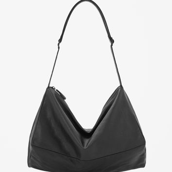 Unstructured leather bag