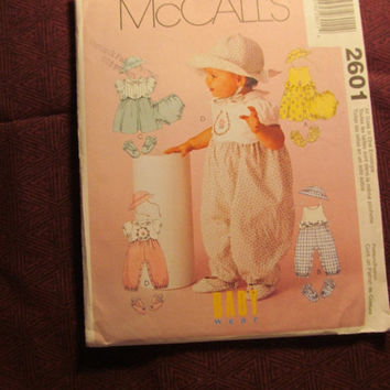 SALE Uncut McCall's Sewing Pattern, 2601! All Sizes Infant/Newborn/baby/Girl/Rompers/Dresses/Hats/Shoes/booties/Panties/Underwear/Sleeveless