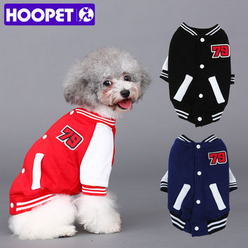 HOOPET Fashion Puppy Cool Letterman Coat
