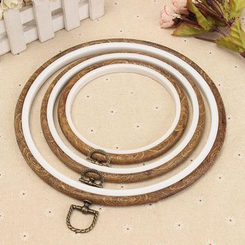 Useful Wood Frame Embroidery Hoop Ring Circle Round Loop For CrossStitch Hand DIY Needlecraft Household Art Craft Sewing Tools