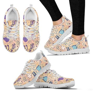 Science Lover Pattern Sneakers