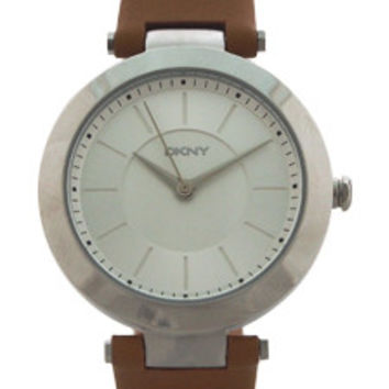 NY2293 Stanhope Brown Leather Strap Watch by DKNY (Women)
