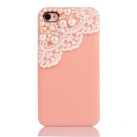 iPhone 4/4s Case Elegant Handmade Lace And Pearl on Luulla