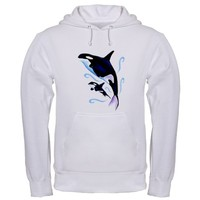 Orca Mom and Baby Hoodie
