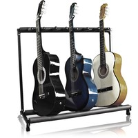 Felji 7 Guitar Stand Holder Folding Stand Rack for Band Stage Bass Acoustic Guitar