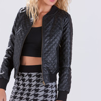 Quilted All Over Bomber Jacket