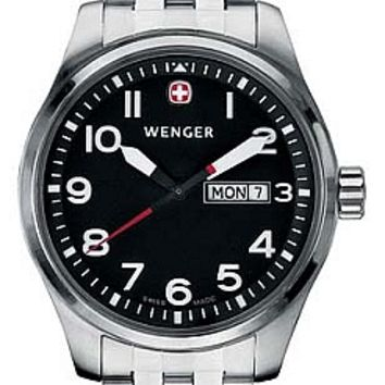 Wenger Men's Swiss Made Aerograph Day Date Watch 72096