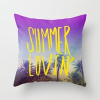 Summer Lovin' Throw Pillow by Leah Flores | Society6