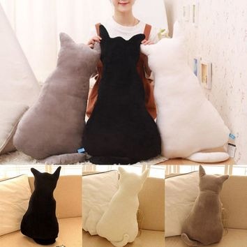 New Cute Cat Plush Back Shadow Pillow Seat Birthday Gift Little Pillows Cat Doll Plush Toy cotton Pillow fashion style