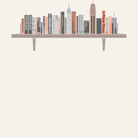 Manhattan Bookshelf - Art Print
