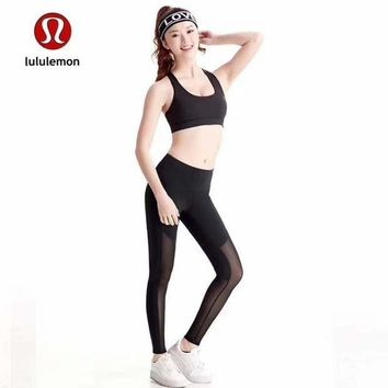 CREYUP0 Lululemon Women Fashion Gym Yoga Exercise Fitness Leggings Sweatpants-2