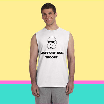 Support Our Troops (Stormtrooper) Sleeveless T-shirt