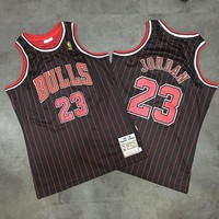 Men's Chicago Bulls Michael Jordan Mitchell & Ness Black Hardwood Classics Swingman Jersey
