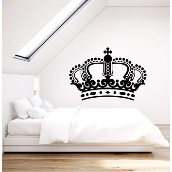 Vinyl Wall Decal Royal Crown For King Queen Stickers (3002ig)