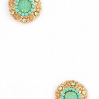 Cute as a Button Studs in Mint