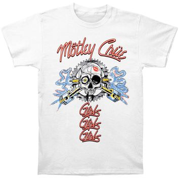 Motley Crue Men's  Vintage Sparkplug Slim Fit T-shirt White