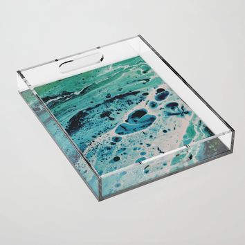 Seafoam Acrylic Tray by duckyb