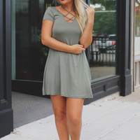 Strings Attached Tunic - Olive