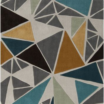 Cosmopolitan Geometric Area Rug Gray, Multi-Color