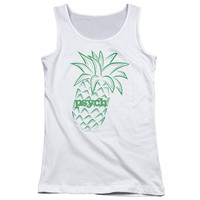 PSYCH/PINEAPPLE - JUNIORS TANK TOP - WHITE -