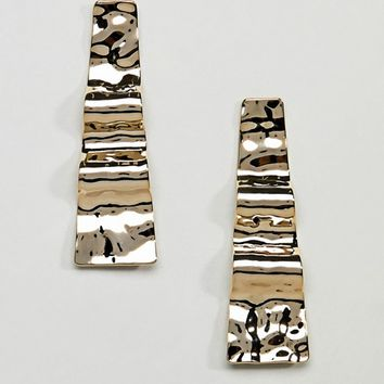 Limited Edition Hammered Wave Earrings at asos.com