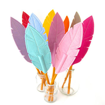 Quill Writer Feather Pencil Topper Wool Blend Felt, Includes Pencil