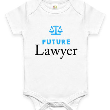 Cute Future Lawyer Baby Clothes Infant Bodysuit Jumper Baby Shower Gift idea Funny New Mom Christmas Pregnant Gift for Professional Law Mom