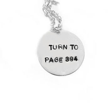 Turn to Page 394 Quote Harry Potter Sterling Silver by JSCJewelry