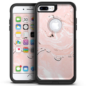 Coral 19 Textured Marble - iPhone 7 or 7 Plus Commuter Case Skin Kit