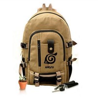 Free Shipping New Naruto Backpack Boy Girl Hokage Ninjia School Bags For Teenagers Bag Japanese Anime Canvas Backpacks