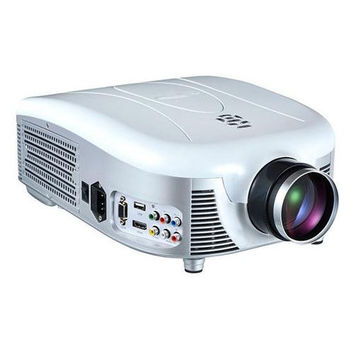 Widescreen Digital Multi-Media LED Projector, 1080p Support, Up to 140'' Viewing Screen, USB Reader, Digital Screen Size Adjustable, Built-in Speakers