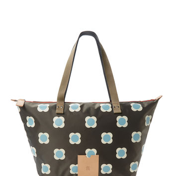 Orla Kiely Women's Flower Spot Tote Bag - Brown