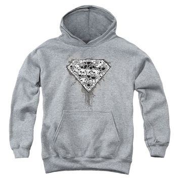 Superman - Many Super Skulls Youth Pull Over Hoodie