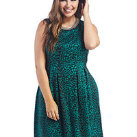 Leopard Fit & Flare Dress | Wet Seal+