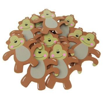 Animal Wooden Baby Favors, 5-inch, 10-Piece, Monkey