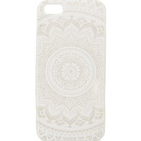 With Love From CA White & Clear Medallion iPhone 5 Case - Womens Scarves - White - One