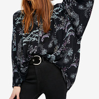 Free People Metallic Blooms Printed Blouse | macys.com