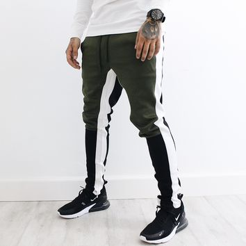 Steven Multi Color Pants (Olive/Black)