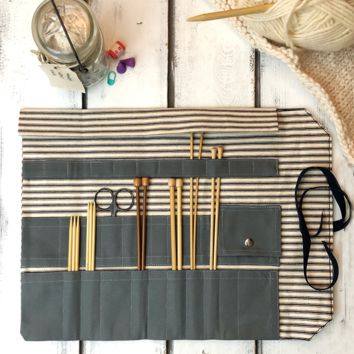 The Hawthorne Tool Roll: Knitters Edition - Knitting Needle / Crochet Case
