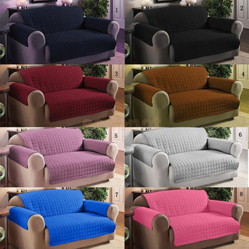 Waterproof 1/ 2/ 3-Seater Lounge Couch Sofa Cover Slipcover Protector Assorted