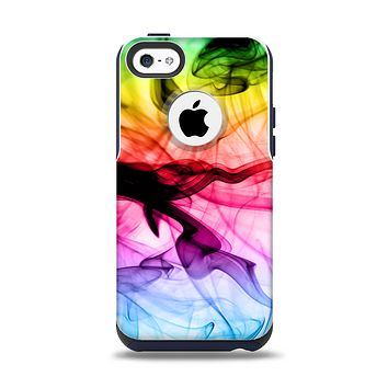 The Neon Glowing Fumes Apple iPhone 5c Otterbox Commuter Case Skin Set