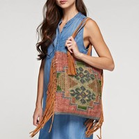 India Artisan Navajo Carpet Large Tote Bag