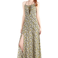 ModCloth Festival Long Spaghetti Straps Maxi Majestic in Marseille Dress