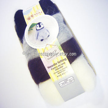 wool only, monochrome black grey brown color series wool set, needle felting wool, diy fun, id1370107, diy, gift for crafter