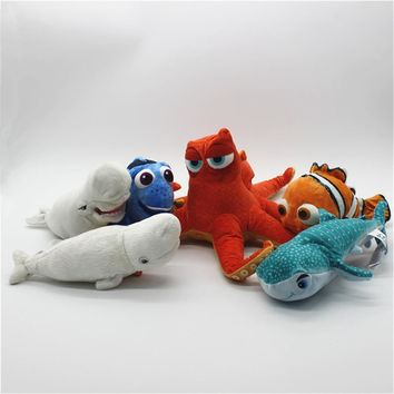 1pcs Finding Dory Plush Dory Nemo Hank Sea Otter Bailey Whale Destiny Shark Squirt Crush Turtle Stuffed Animals Toys