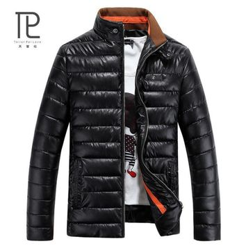 Tailor Pal Love Winter Men Jacket PU Leather Casual Mens Jackets And Coats Thick Parka Men Outwear 4XL Jacket Male Clothing #V5