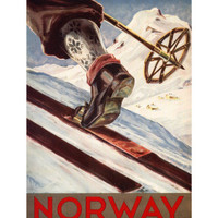 Norway - The Home of Skiing Poster at AllPosters.com